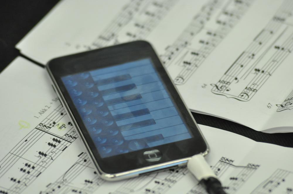 iPod touch mit Akkordeon-App. / Foto: Cora-Mae Gregorschewski